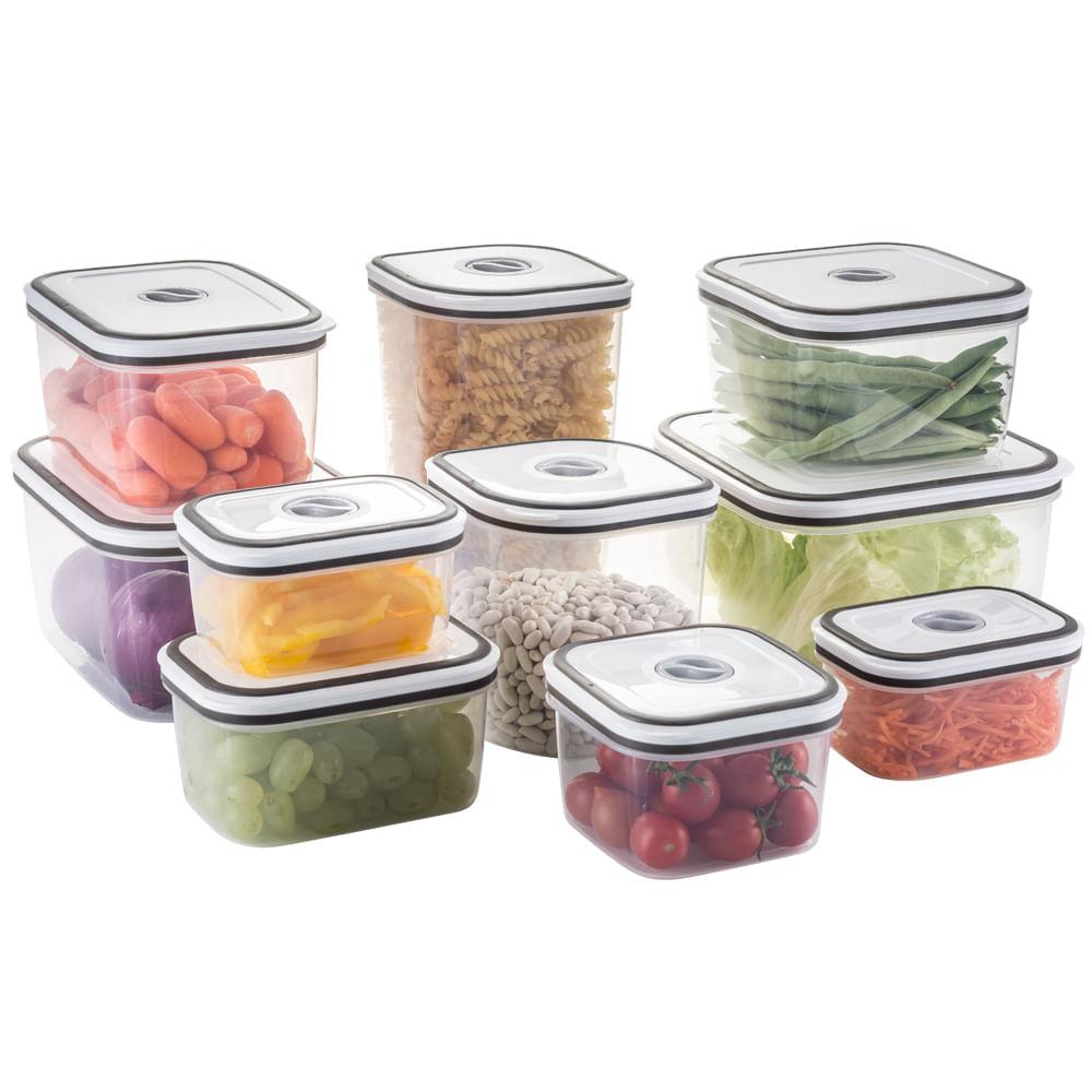 10 Potes Electrolux Herm Ticos Para Freezer E Microondas R 129  ~ Potes Decorativos Para Cozinha