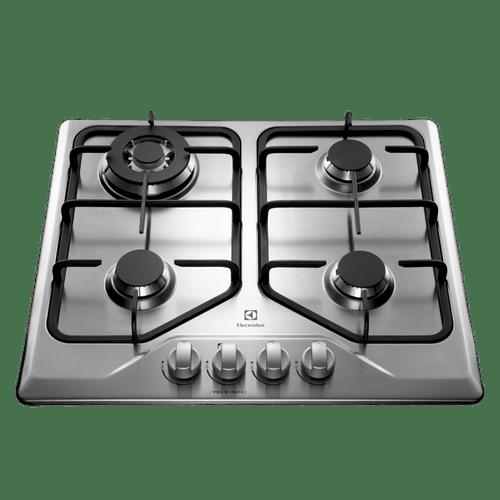 Cooktop 4 bocas cor Inox a Gás Electrolux (GT60X) - Cooktop A Gás 4 Queimadores (GT60X)