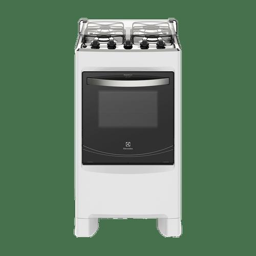 Fogão de Piso Branco com Queimadores Robustos e Vidro Interno Removível (50SBC) Electrolux