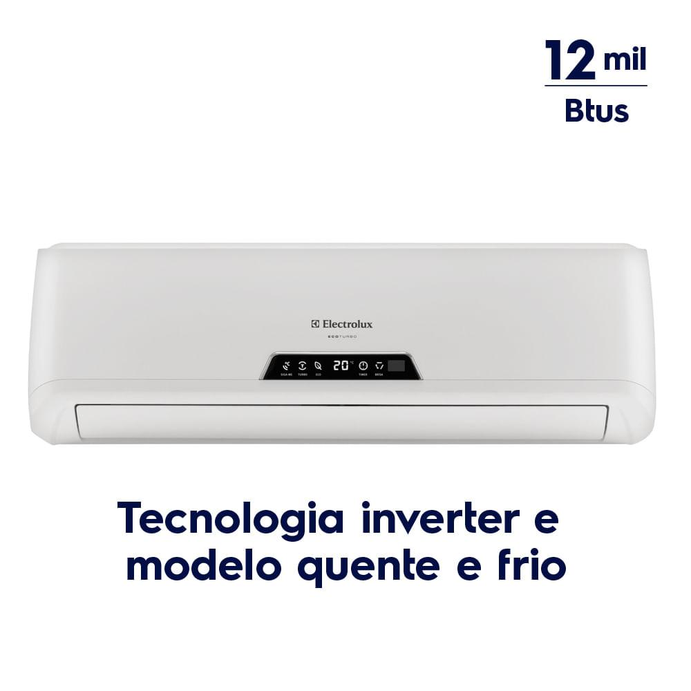 ... Ar Condicionado Split Inverter 12.000 Btus Quente/Frio (BI12R/BE12R) ...