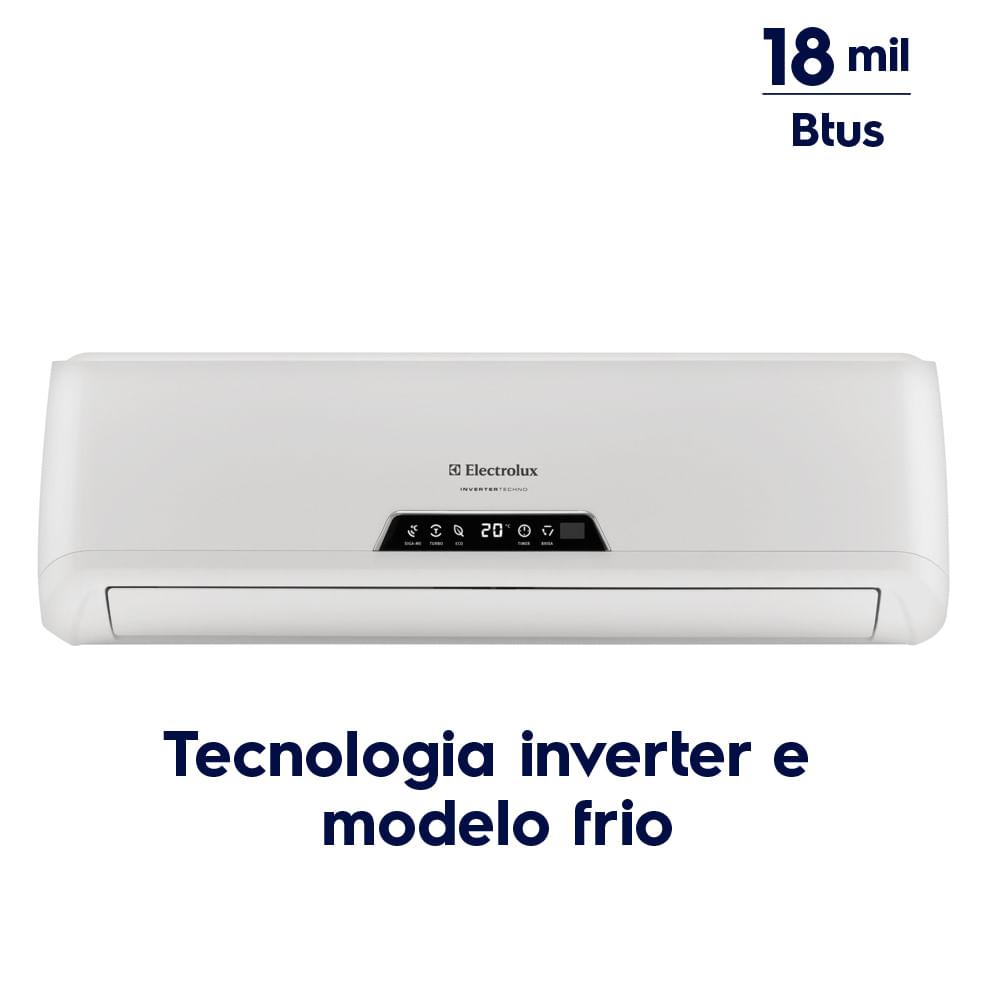 05cffc73f ... Ar Condicionado Split Inverter 18.000 Btus Frio (BI18F BE18F) ...