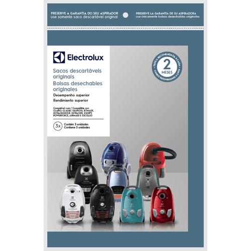 Kit 3 Sacos de aspirador de pó - Modelos: Clario, Classic Silencer, Jetmaxx, Ultrasilencer, Ultraone, Equipt e Powerforce (SWECL)