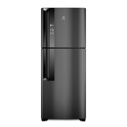 Geladeira Electrolux Top Freezer Frost Free Efficient Black Inox Look com Tecnologia Autosense (IF55B)